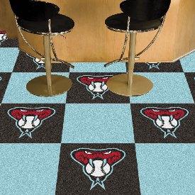 "Arizona Diamondbacks Team Carpet Tiles - 18""x18"" tiles"