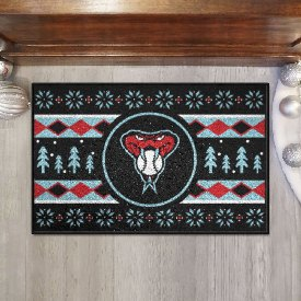 "Arizona Diamondbacks Holiday Sweater Starter Mat - 19""x30"""