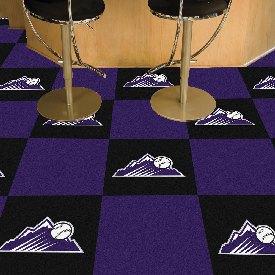 "Colorado Rockies Team Carpet Tiles - 18""x18"" tiles"