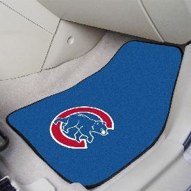 "Chicago Cubs 2-pc Carpet Car Mat Set - 17""x27"""