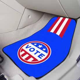 "2020 VOTE 2-pc Carpet Car Mat Set 17""x27"""