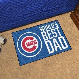 """Chicago Cubs Starter Mat - World's Best Dad - 19""""x30"""""""