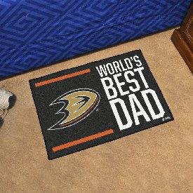 """Anaheim Ducks Starter Mat - World's Best Dad - 19""""x30"""""""