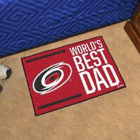 "Carolina Hurricanes Starter Mat - World's Best Dad - 19""x30"""