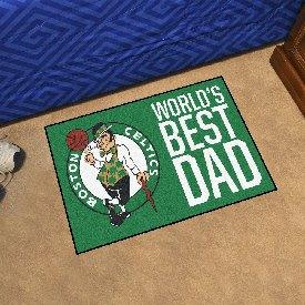 "Boston Celtics Starter Mat - World's Best Dad - 19""x30"""