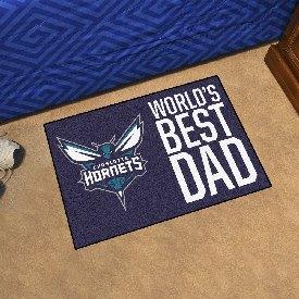 "Charlotte Hornets Starter Mat - World's Best Dad - 19""x30"""