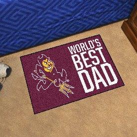 """Arizona State Starter Mat - World's Best Dad - 19""""x30"""""""