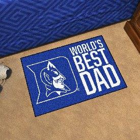 """Duke Starter Mat - World's Best Dad - 19""""x30"""""""