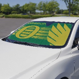 "University of Oregon Auto Shade 59"" x 29.5"" - Primary Logo, Alternate Logo and Wordmark"