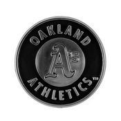 MLB - Oakland Athletics Molded Chrome Emblem 3.25 x 3.25 -