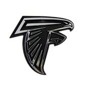 NFL - Atlanta Falcons Molded Chrome Emblem 3.25 x 3.25 -