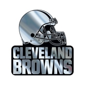 NFL - Cleveland Browns Molded Chrome Emblem 3.25 x 3.25 -