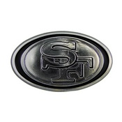 NFL - San Francisco 49ers Molded Chrome Emblem 3.25 x 3.25 -