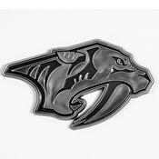 NHL - Nashville Predators Molded Chrome Emblem 3.25 x 3.25 -