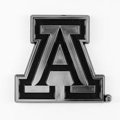 University of Arizona Molded Chrome Emblem 3.25 x 3.25 -