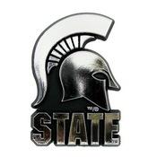 Michigan State University Molded Chrome Emblem 3.25 x 3.25 -