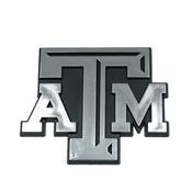 Texas A&M University Molded Chrome Emblem 3.25 x 3.25 -