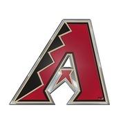 MLB - Arizona Diamondbacks Embossed Color Emblem 3.25 x 3.25 -