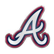 MLB - Atlanta Braves Embossed Color Emblem 3.25 x 3.25 -