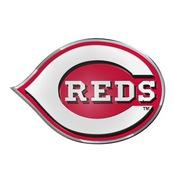 MLB - Cincinnati Reds Embossed Color Emblem 3.25 x 3.25 -