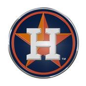 MLB - Houston Astros Embossed Color Emblem 3.25 x 3.25 -