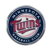 MLB - Minnesota Twins Embossed Color Emblem 3.25 x 3.25 -