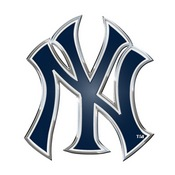MLB - New York Yankees Embossed Color Emblem 3.25 x 3.25 -