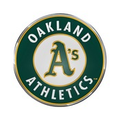 MLB - Oakland Athletics Embossed Color Emblem 3.25 x 3.25 -