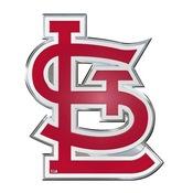 MLB - St. Louis Cardinals Embossed Color Emblem 3.25 x 3.25 -