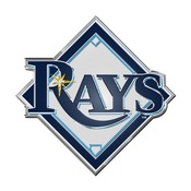 MLB - Tampa Bay Rays Embossed Color Emblem 3.25 x 3.25 -