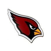 NFL - Arizona Cardinals Embossed Color Emblem 3.25 x 3.25 -