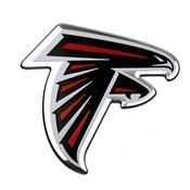 NFL - Atlanta Falcons Embossed Color Emblem 3.25 x 3.25 -