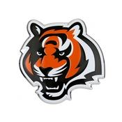 NFL - Cincinnati Bengals Embossed Color Emblem 3.25 x 3.25 -