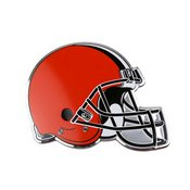 NFL - Cleveland Browns Embossed Color Emblem 3.25 x 3.25 -