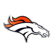 NFL - Denver Broncos Embossed Color Emblem 3.25 x 3.25 -