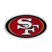NFL - San Francisco 49ers Embossed Color Emblem 3.25 x 3.25 -