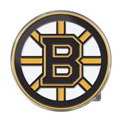 NHL - Boston Bruins Embossed Color Emblem 3.25 x 3.25 -