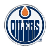 NHL - Edmonton Oilers Embossed Color Emblem 3.25 x 3.25 -