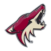 NHL - Arizona Coyotes Embossed Color Emblem 3.25 x 3.25 -