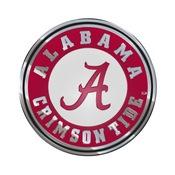 University of Alabama Embossed Color Emblem 3.25 x 3.25 -