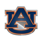 Auburn University Embossed Color Emblem 3.25 x 3.25 -