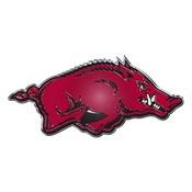 University of Arkansas Embossed Color Emblem 3.25 x 3.25 -