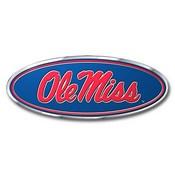 University of Mississippi (Ole Miss) Embossed Color Emblem 3.25 x 3.25 -