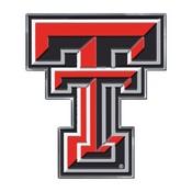 Texas Tech University Embossed Color Emblem 3.25 x 3.25 -