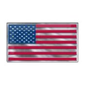 United States, USA Embossed Color Emblem 3.25 x 3.25 - American Flag