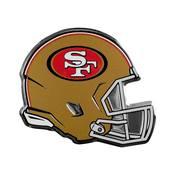 NFL - San Francisco 49ers Embossed Helmet Emblem 3.25 x 3.25 -
