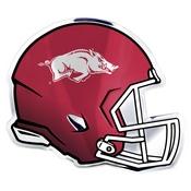 University of Arkansas Embossed Helmet Emblem 3.25 x 3.25 -