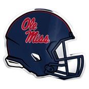 University of Mississippi (Ole Miss) Embossed Helmet Emblem 3.25 x 3.25 -