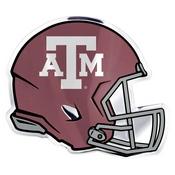 Texas A&M University Embossed Helmet Emblem 3.25 x 3.25 -