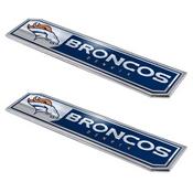 NFL - Denver Broncos Embossed Truck Emblem 2-pk 1.75 x 8.25 - Primary Logo & Wordmark